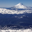 Stock Photo: Panoramic view from VillaricVolcano, Chile.