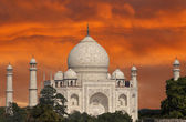Taj Mahal at sunset, India. — Stock Photo