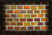 Weathered stained old brick wall background. — Stock Photo