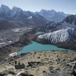 Beautiful view from Gokyo Ri, Everest region, Nepal — Stock Photo