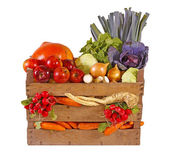Fresh vegetables and fruits — Stock Photo