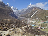 Beautiful mountain view of Everest Region,  Nepal — Stockfoto