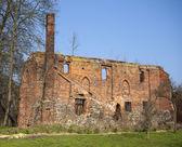 Post Cistercian ruins in Bierzwnik village — Stock Photo