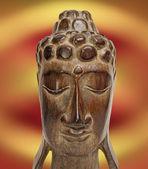 Wooden Buddha — Stock Photo