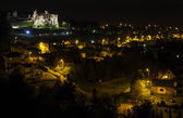 Castle in Ogrodzieniec by night, Poland. — Stock Photo