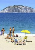 Copacabana beach in summer day. — Stock Photo
