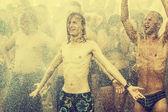 Przystanek ウッド ストック (ウッド ストック ・ フェスティバル)、ヨーロッパで最も大きい夏オープン エア ロック音楽祭. — ストック写真