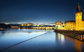 Charles Bridge at night, Prague, Czech Republic — Stock Photo