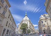 Street view in the Old Town in Prague, one of the most visited touristic cities in Europe. — Stock Photo