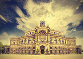 Dresden opera theater, Germany, retro vintage effect.  — Stock fotografie