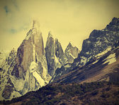 Cerro Torre Mountain in Los Glaciares National Park, Patagonia, — Stock Photo