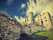 Vintage retro style ruins of castle. — Stock Photo