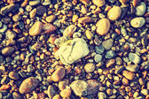 Rocky, stony texture background, retro vintage effect. — Stock Photo