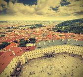 Prague Old Town, the Czech Republic, retro effect. — Stock Photo