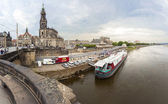 Dresden embankment and Elbe river. — Stock Photo