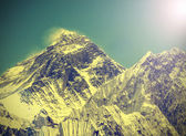 Vintage image of Everest Mountain, Nepal.  — Stock Photo