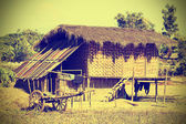 Typical village in North Myanmar (Burma), instagram effect. — Stock Photo