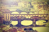Bridge Ponte Vecchio in Florence, Italy, vintage retro effect. — Stock Photo