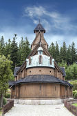 Old wooden temple Wang in Karpacz, Poland. — Stock fotografie