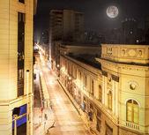 Night view of Santiago de Chile downtown. — Stock Photo