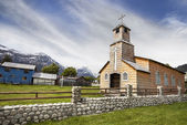 Wooden church in Chilean countryside. — Stock Photo