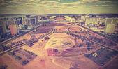 Vintage skyline of Brasilia City, Brazil — Stock Photo
