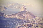 Vintage flygfoto över rio de janeiro, brasilien — Stockfoto