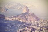 Vintage vista aérea do rio de janeiro, brasil — Foto Stock