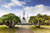 Jackson Square in French Quarter of New Orleans, USA — Stock Photo