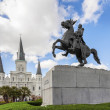 Saint Louis Cathedral and statue of Andrew Jackson, New Orleans, — Stock Photo #51629115