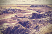 Vintage picture of Painted Desert, Petrified Forest National Par — Stock Photo