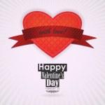 St. Valentine's Day background — Stock Vector