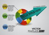 3d element infographic — Stok Vektör