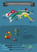 Elementy infografika — Wektor stockowy
