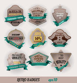Retro badges for trade — Vector de stock