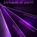 Dark purple vector poster — Stock Vector #42653889