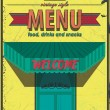 Vintage Poster restaurant menu — Stock Vector