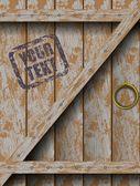 Old doors — Stock Vector