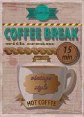 Pause café affiche — Vecteur