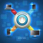 Cloud computing — Stock Vector #43014473