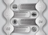 Vector infographics - template for the presentation of your data — Vector de stock