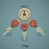 Web design, can be used as an infographic — Stok Vektör