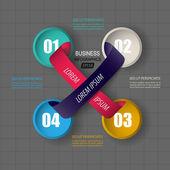 Modern infographics data — Stok Vektör