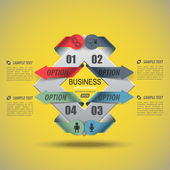 Business infographic for data — 图库矢量图片
