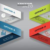 Modern presentation infographic — Stok Vektör