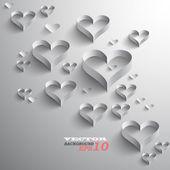 Abstraktní papírové srdce — Stock vektor