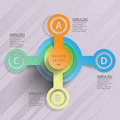 цветные круги данных — Cтоковый вектор