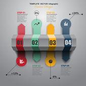 Isometric timeline — Stock Vector