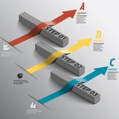 Isometric timeline — Vetorial Stock