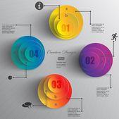 Dati di cerchi colorati — Vettoriale Stock